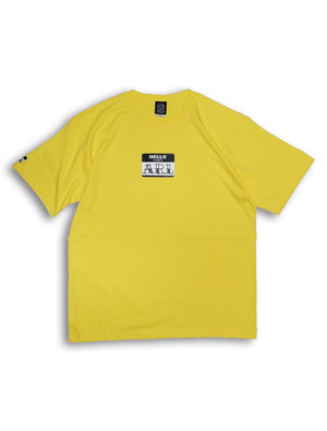 LOGO STICKER TEE yellow