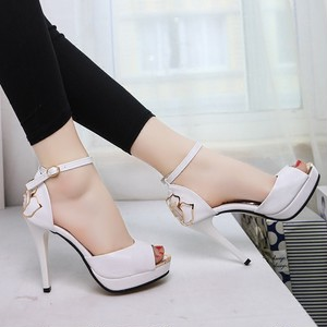 【pumps】2018 new high heel stiletto sexy  fish mouth  waterproof high heel pumps