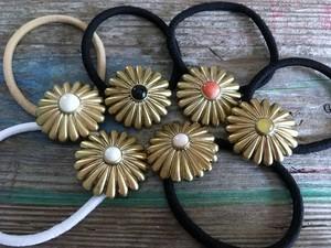 brass concho hair elastic