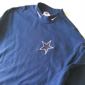 NIKE : 「Dallas Cowboys」 mock neck cut & sew (used)
