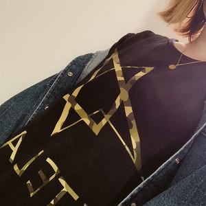 XTELA 迷彩ロゴ BIG Tee(ブラック)