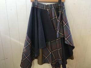 nunuforme 145cm ミックススカート グレー
