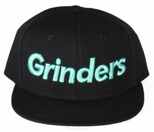 GRINDERS logo snap back CAP (black x tiffany)