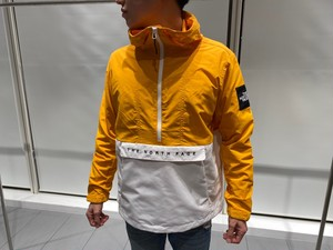 【海外買付アイテム】THE NORTH FACE HALF ZIP ANORAK (white×orange)