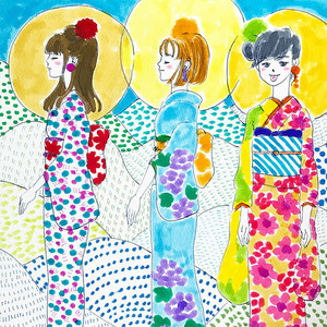 #121_Colorful girls6_182x182mm<Drawing>