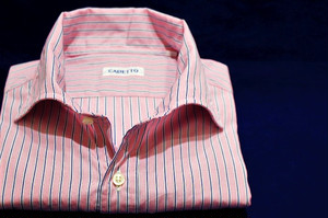 CADETTO ORIGINALS SHIRTS Pink×Dark Purple Stripe