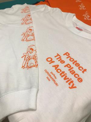 White Drum ロングスリーブ T-shirt