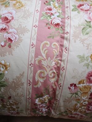 羽毛布団 シングル ピンク 花柄