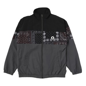 EXAMPLE PAISLEY RUBBER  PATCH TRACK JAKET / CHARCOAL