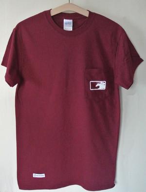 KBAポケットTシャツ(バーガンディ)