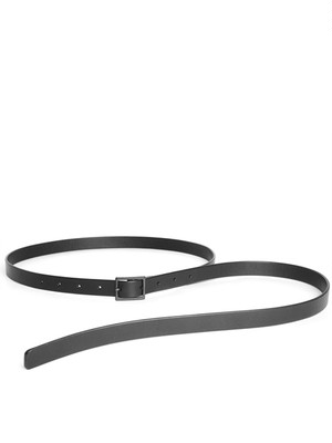 Leather skinny belt 'hang down'  ベルト 172ABE24