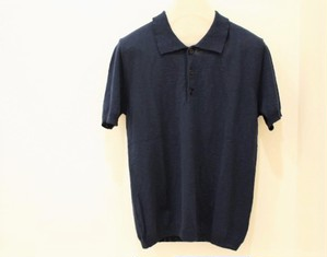 MICHELACCI DANILO Slub Polo Shirt Navy