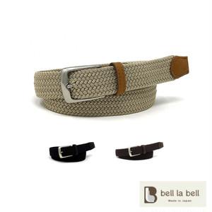 belllabell ゴムメッシュベルト メンズ 牛革 真鍮バックル 日本製 30mm幅ベルト(rl-gmesh30)