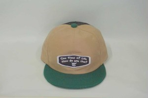 "6パネル message emblem mesh cap ""One time of life """