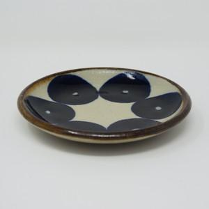 エドメ陶房 5寸皿 青丸紋