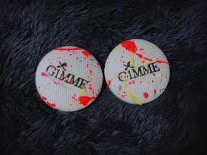 """GiMME(ギミー) /  """"GiMME"""" Logo Painting piece / WHT"""