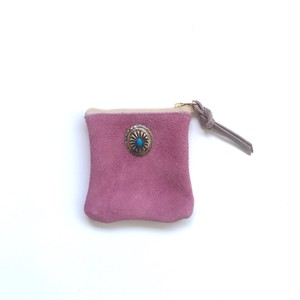 travel mini purse -old rose-