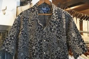 00's Ralph Lauren floral linen s/s Shirt