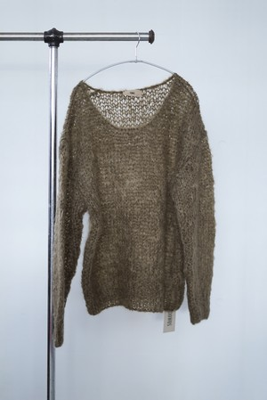 NOWOS / mohair pullover knit (brown)