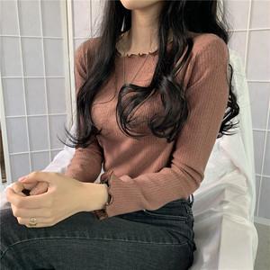 【トップス】韓国系長袖ラウンドネックプルオーバーカットソー32134156