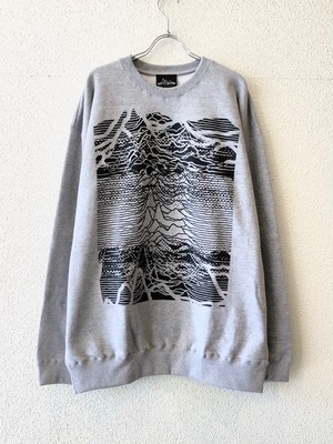"【18068】CREW NECK BIG SWEAT ""2TONE CP1919"" HEATHER GRAY"