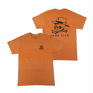 HARD LUCK - BON LOGO TEE (Rust)