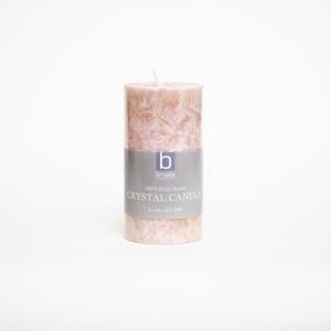 crystal pillar candle baby rose