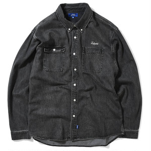 【Lafayette】WASHED DENIM B.D. SHIRT - BLACK