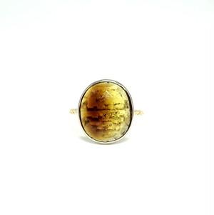 rosecut tourmaline ring - A #13