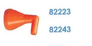 """82223 汎用クーラントホース1/4"""" 1/16""""90°ノズル"""