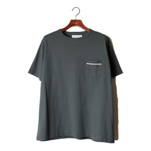 1 pocket Loose Tee -blue gray <LSD-AI3T5>