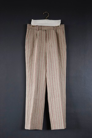 jonnlynx - red stripe pants