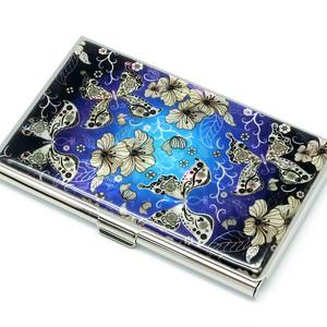 天然貝 名刺カードケース(蝶の舞)<螺鈿アート>