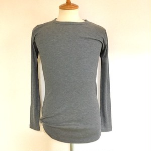 Dual Warm Crew Neck Round L/S T-shirts Gray