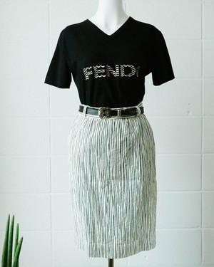 Fendi embroidery logo t-shirt