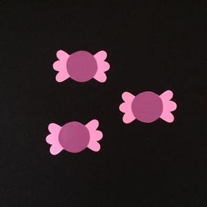 キャンディ(包み・紫)の壁面装飾