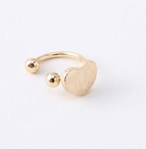 イヤーカフ ハート 型 ゴールド 耳に穴を あけない イヤリング ノンホールピアス kcab004