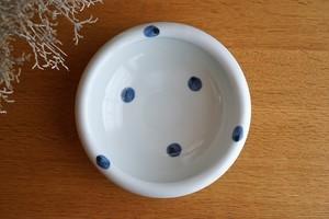 砥部焼/6寸玉縁鉢/水玉/梅乃瀬窯