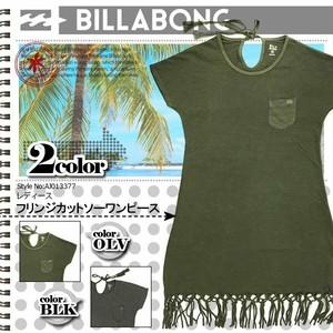 AJ013-377 ビラボン 人気ブランド プレゼント ギフト BILLABONG レディース 新作 フリンジカットソーワンピース