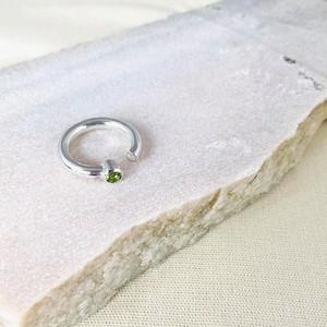 Stone C ring ペリドット