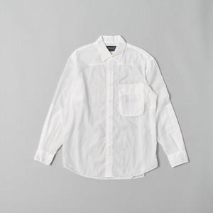 ポケッタブル オーバーシャツ ホワイト