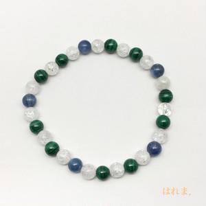 カイヤナイト・マラカイト・クラック水晶 ブレスレット