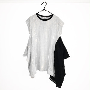 E/G KNIT DRAPE DRESS / WOMEN