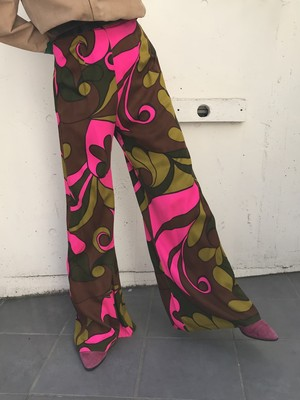 70s psychedelic pink × green pants ( ヴィンテージ  サイケデリック ピンク × グリーン パンツ )