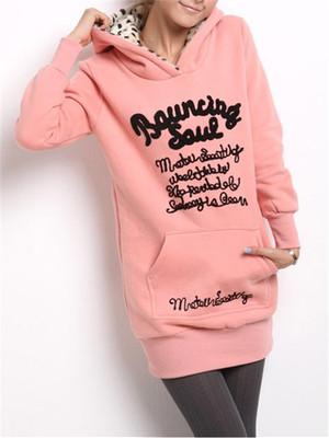 【tops】Autumn winter hooded letter print sweatshirt