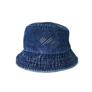 scar /////// BLOOD BUCKET HAT (Dark Blue Denim)
