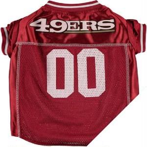 "NFLオフィシャル犬用ユニフォーム""49ERS"" 【XS~Lサイズ】"