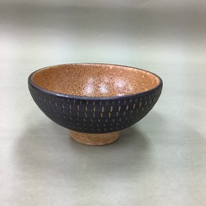 飛カンナ 茶碗 黒 [ 11 x 5.5cm ] 【お家で楽しく】