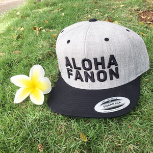 [HAT] ALOHA FANON EMBROIDERY -GREY BLACK / BLACK EMBROIDERY-