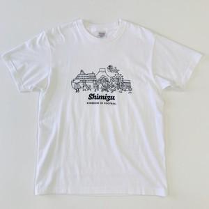 清水football kingdomタウン柄Tシャツ ホワイト